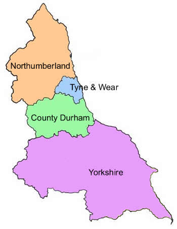 North East Region Map