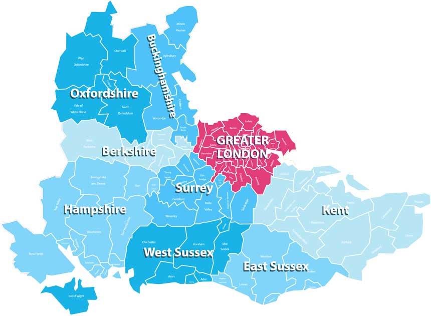 South East Region Map